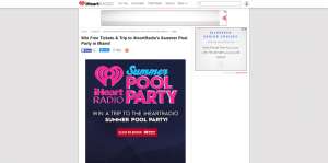 iHeartRadio Win a Trip to the 2016 iHeartRadio Summer Pool Party Sweepstakes