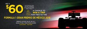 Pirelli Formula 1 Gran Premio De México 2016 Sweepstakes
