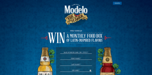 Modelo Summer Tour de Sabor Sweepstakes