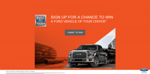 2016 Ford Vehicle Sweepstakes