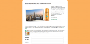 Food Network Magazine Beauty Makeover Sweepstakes