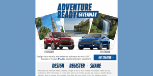 Ford Adventure Ready Giveaway At YourFordChoice.com