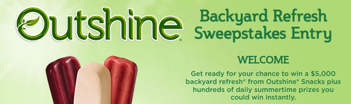 OutshineSnacks.com/Refresh - Outshine Backyard Refresh Sweepstakes