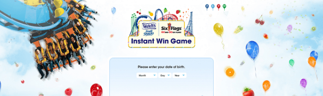 WFSInstantWin.com - Welch's Fruit Snacks And Six Flags Instant Win Game