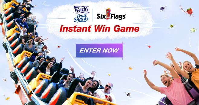 Welch's Fruit Snacks Six Flags Instant Win Game 2017