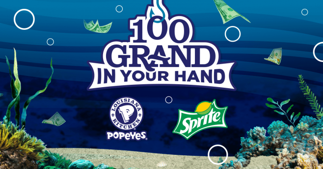 Win Up To $100,000 In The Sprite And Popeyes 100 Grand In Your Hand 2017