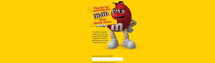 Movie.MMS.com - M&M'S Movie Game 2016