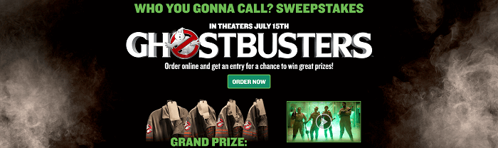 papajohns.com/ghostbusters - Papa John's Who You Gonna Call? Sweepstakes
