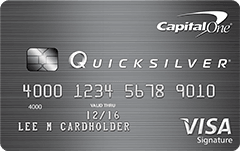 quicksilver credit card from Capital One