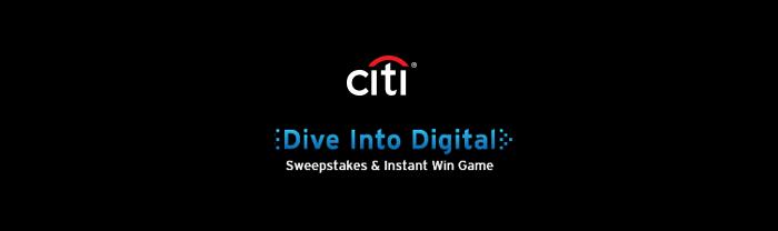 Citi.com/DiveIntoDigital - Citi Dive Into Digital Sweepstakes 2016