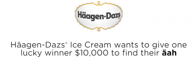 HaagenDazs.us/Aah - Häagen-Dazs Find Your Äah Instant Win Game & Sweepstakes