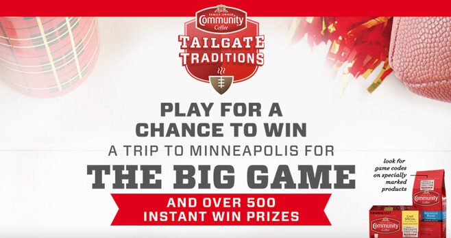 Community Coffee Tailgate Traditions Instant Win Game & Sweepstakes 2017