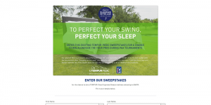 TEMPUR-Pedic Sleeping on the Lead Sweepstakes