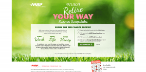 AARP $50K Retire Your Way Summer Sweepstakes