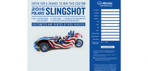 Allstate Slingshot Motorcycle Sweepstakes