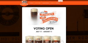 A&W Restaurants 2017 Collector's Mug Sweepstakes