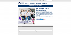 Purex Back to School Shopping Spree Sweepstakes