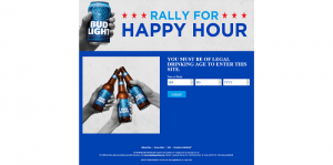 Bud Light Rally for Happy Hour Sweepstakes and Instant Win