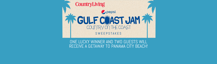 CountryLiving.com/GulfJam - Country Living Gulf Jam Getaway Sweepstakes 2016
