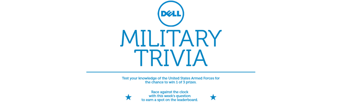 DellMilitaryTrivia.com Thursdays Sweepstakes 2016