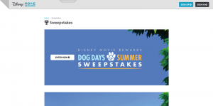 Disney Movie Rewards Dog Days of Summer Sweepstakes