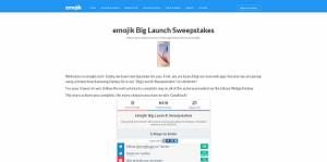 emojik Big Launch Sweepstakes