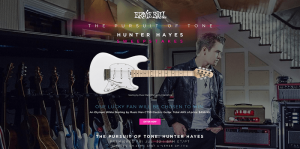 Ernie Ball Hunter Hayes Sweepstakes