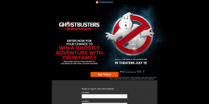 Fandango Ghostbusters Sweepstakes