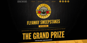 Live Nation's Guns N' Roses Flyaway Sweepstakes