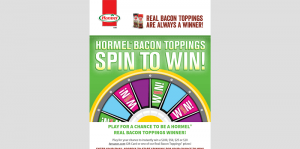 HORMEL Bacon Toppings Instant Win Game