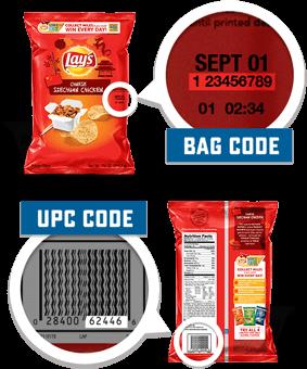lays bag codes