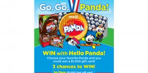 Meiji Go. Go. Panda! Sweepstakes