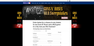 MLB Guns N' Roses Sweepstakes