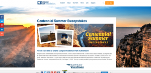 National Park Foundation Centennial Summer Sweepstakes