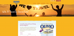 Olivio's A Family Vacation to Anywhere Sweepstakes
