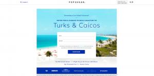 PopSugar Turks and Caicos Sweepstakes