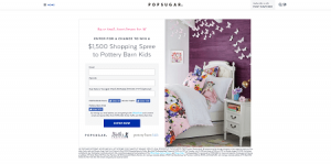 PopSugar Pottery Barn Kids Sweepstakes