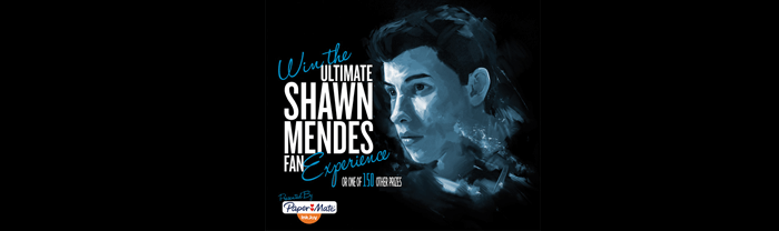 SpreadJoyInk.com - Ultimate Shawn Mendes Fan Experience Sweepstakes