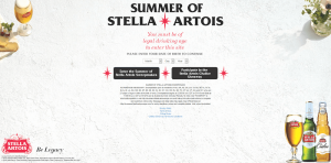 Summer of Stella Artois Sweepstakes