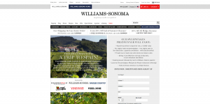 2016 Williams-Sonoma Win a Trip to Spain Sweepstakes