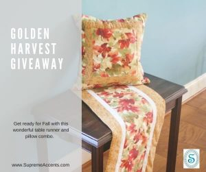 Supreme Accents Golden Harvest Giveaway