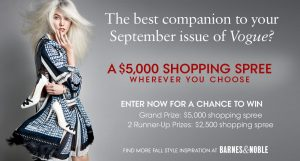 Vogue Ultimate Fall Shopping Spree Sweepstakes