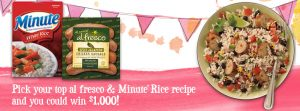 al fresco & Minute Rice Recipe Sweepstakes