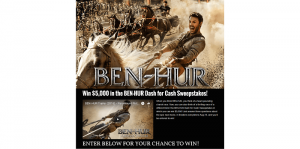 BEN-HUR Dash for Cash Sweepstakes