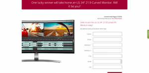 B&H LG Curved Monitor Sweepstakes