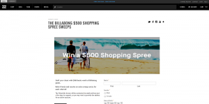 Billabong Fall $500 Shopping Spree Sweepstakes