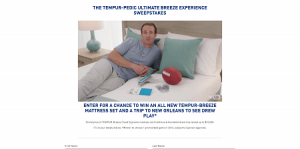 TEMPUR-Pedic Ultimate Breeze Experience Sweepstakes