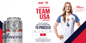 2016 Budweiser Team USA Sweepstakes