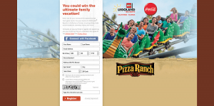 Pizza Ranch Build Your Own Family Vacation Sweepstakes