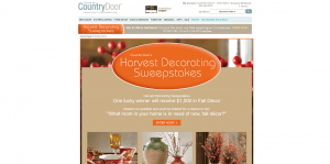 Country Door's Harvest Decorating Sweepstakes